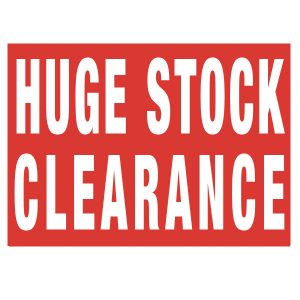 Huge Stock Clearance Poster A0