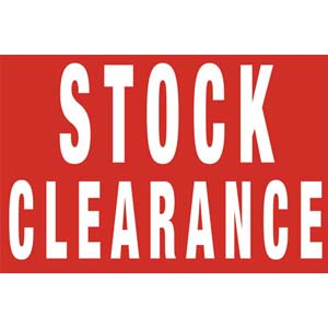 Stock Clearance Posters