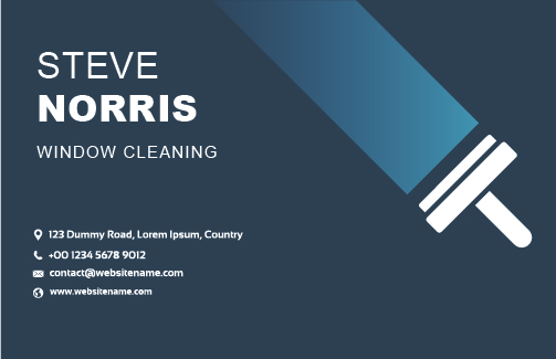 Window Cleaning Business Cards